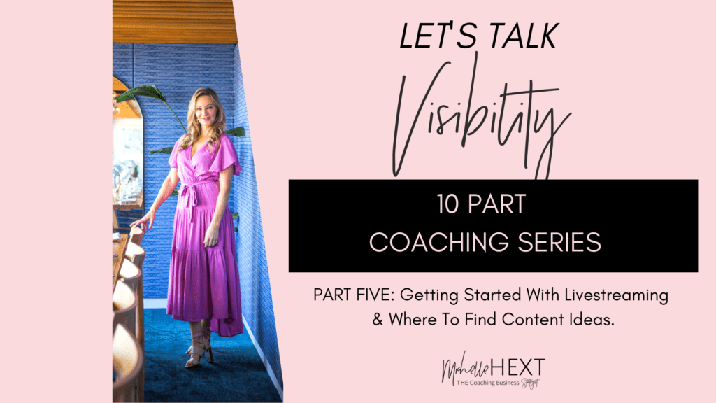 Lets Talk Visibility Part 5 Michelle Hext