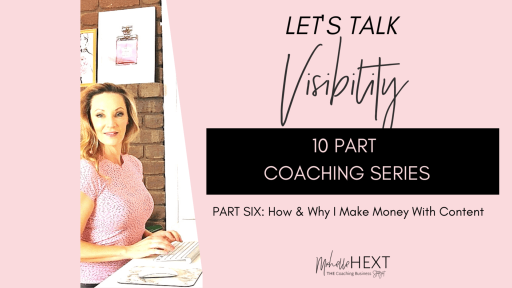 Lets Talk Visibility Part 4 Michelle Hext